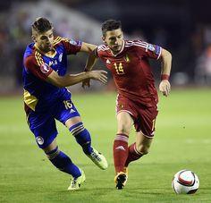Moisés San Nicolás en favor del equipo nacional de Andorra y Dries Mertens en favor del seleccionado belga: Euro 2016.