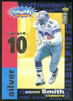 1995 COLLECTORS CHOICE CRASH THE GAME SILVER EMMITT SMITH FREE SHIPPING #DallasCowboys