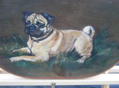 Vintage Signed And Dated 1949 dog oil by museumofvintageart, $99.99