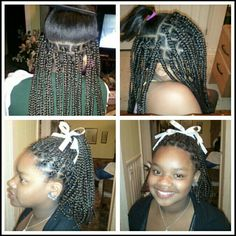 Box braids great protective style for natural hair. ..IAmSW