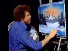 Bob Ross Winter Evergreens -The Joy of Painting   (Season 9 Episode 1)