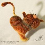 Cat heart ValentinCat Amigurumi Pertseva - via @Craftsy