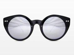 Spitfire - Alpha 1 Black Sunglasses, Black & Silver Mirror Lenses