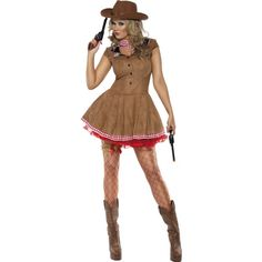 Complete your cowboys and Indians costume with this ladies wild west sexy cowgirl costume. This wild west sexy cowgirl costume is a great cowgirl costume idea for women. Sexy Cowgirl, Cowgirl Costume For Women, Cowgirl Fancy Dress, Cowboy And Indian Costume, Indian Fancy Dress, Cowgirl Halloween Costume, Costumes Sexy Halloween, Cowgirl Dresses, Ladies Fancy Dress