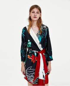 ZARA - WOMAN - PRINTED CROSSOVER DRESS
