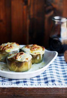 Receta 278: Fondos de alcachofas con foie-gras y bechamel » 1080 Fotos de cocina