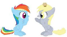 derpy and rainbow dash filly