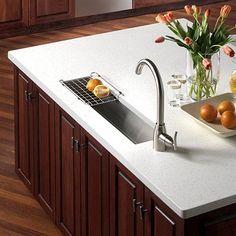 Houzer Contempo Trough Bar/ Prep Bowl Bar Sink, Lustrous Satin Highlighted Rim at ATG Stores Outdoor Kitchen Sink, Outdoor Kitchen Design, New Kitchen, Kitchen Decor, Kitchen Ideas, Cherry Kitchen, Kitchen Interior, Trough Sink, Prep Sink