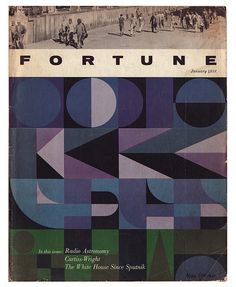 Fortune Magazine - January 1958    Cover by Alan Fletcher