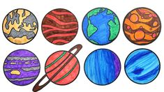 planets solar drawing system children planet coloring easy painting teach cool colors clipartmag way pages projects