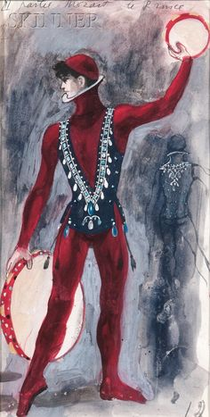 Pavel Tchelitchew (Russian/American, 1898-1957) Costume Design for The Prince in Violin Concerto. | Auction 2896B | Lot 316 | Sold for $4,613