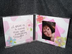 Recycling project - make a photo frame from a CD case -