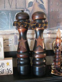 Primitive Salt and Pepper Shakers
