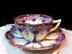 Tea cup and saucer - Wileman's Foley circa 1892 Tea Cup Set, My Cup Of Tea, Tea Cup Saucer, Tea Sets, Antique Tea Cups, Vintage Teacups, Vintage China, Cuppa Tea, Teapots And Cups