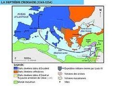 La Séptima Cruzada fue liderada por Luis IX de Francia entre 1248 y 1254.