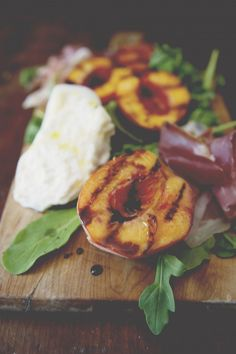 grilled peach, beet + cheese