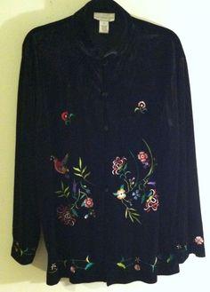 Woman Jacket Plus Size XL By Susan Gravel  #SusanGraverStyle #BasicJacket