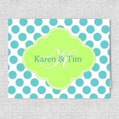 Polka Dots 2 Monogram Note Cards   Personalized by AJsPrints, $12.50