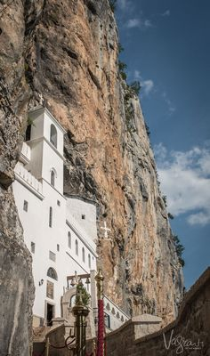 Beautiful Montenegro - The impressive Ostrog Monastery clings to a cliff face