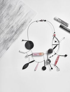 #loranikolova #bijoux&art #necklace #colors #art #madeinitaly #abstract #style