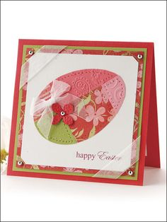 Use colorful print-paper scraps from your stash to create a vibrant patchwork egg for this joyful Easter greeting.