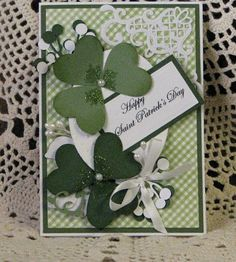 Card Handmade Greeting Card St Patrick's by brambleberrybracelet