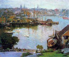 "urgetocreate: ""Edward Potthast, Harbor Village """