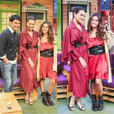 Sonakshi sinha promoting her upcoming noor on the kapil sharma show.