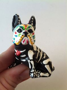 Hey, I found this really awesome Etsy listing at https://www.etsy.com/listing/200618362/day-of-the-dead-boston-terrier-dog-sugar