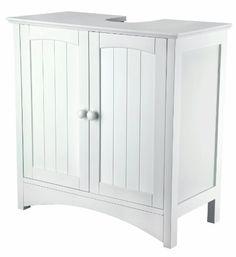 """Waschbeckenunterschrank - MDF weiß lackiert ca. 60 x 60 x 30 cm """"Sydney"""""""