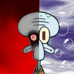 """The Two Faces of Squidward Squidward Tentacles/Squidward's Suicide from """"Spongebob Squarepants"""". WANTED FOR: Giving innocent people suicidal thoughts for the past..... I don't know. REWARD: $1,000)"""