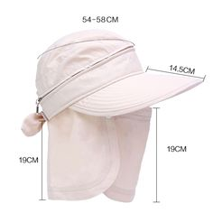 Women Sun Cap With Shawl Removable Mask Wide Visor Cap Multifunction Face Mask Hats is hot sale on Newchic. Sun Cap, Visor Cap, Diy Hat, Summer Hats, Fashion Face Mask, St Kitts And Nevis, Leather Craft, Hats For Women, Dress Patterns