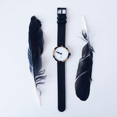 Simple black watch.
