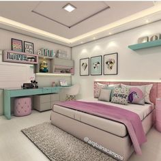 Cute Tween Bedroom Interior Design Ideas, Color Scheme plus Decor