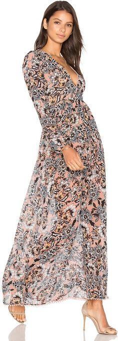 For Love & Lemons Gracie Floral Maxi Dress on ShopStyle