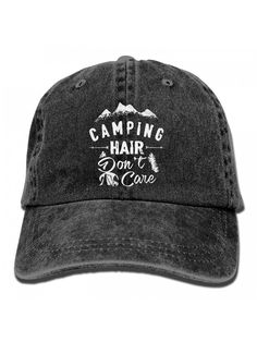23690a97303 Camping Hair Don t Care Unisex Adult Adjustable Trucker Dad Hats - Black -  CE186KIE03G. Men s HatsDad HatsCamping HairFashion HatsBaseball ...