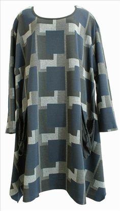 AKH Fashion Lagenlook Tunika Kleid XXL Mode in blau bei www.modeolymp.lafeo.de