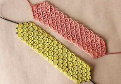 pulseras de hilo anchas  faciles de hacer parte 1
