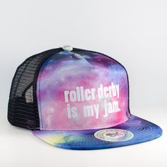 What roller derby fan wouldn't love to wear this hat to the next bout?  I would even love to have this to cover my helmet hair after my next practice!  This skate hat is made to order.  Get yours here: http://www.etsy.com/listing/462697025/roller-derby-is-my-jam-roller-derby