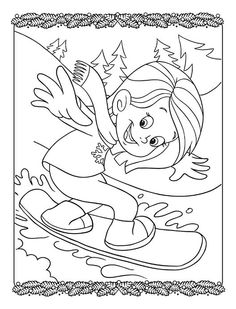 Follow the link below to download this coloring page! http://www.bendonpub.com/upload/coloring-pages/jan-2015-snowboard-girl.pdf