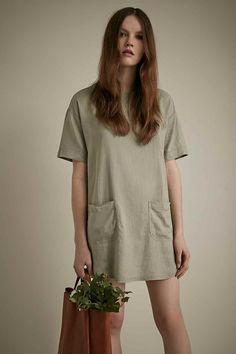 BDG Front Pocket Frock Dress