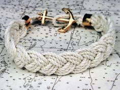 Bracelet on nautical chart