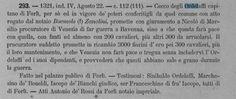 I Libri commemoriali della Rep. di Venezia - Tomo 1 (ed.1876) Citato il passaggio della Signori a di Forlì a Francesco (Cecco) II Ordelaffi nel 1321