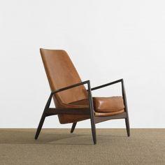 244    IBKOFOD-LARSEN    loungechair    Olof PersonsFåtölindustri  Denmark, c. 1965  teak, leather