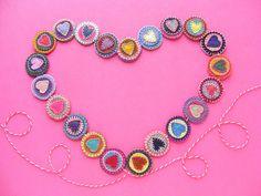 DIY: heart garland