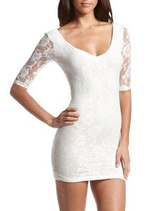 All Lace Bow-Back Dress: Charlotte Russe  I want this!