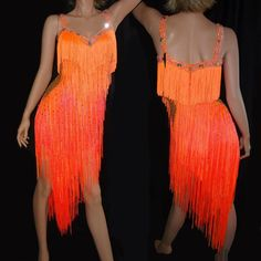 Flame Red and Red latin fringe ballroom dress by DL Wear Latin Ballroom Dresses, Ballroom Dancing, Latin Dresses, Fringe Flapper Dress, Junior Dresses, Dance Outfits, Nice Dresses, Latina, Dance Costumes