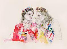 fashion illustrations by Costa Rican artist Natalia Sanabria