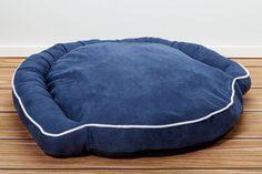 Luxury Bolster Pet Beds - Denim