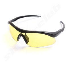 airsoft brille mit gelben gl sern und schwarzem. Black Bedroom Furniture Sets. Home Design Ideas